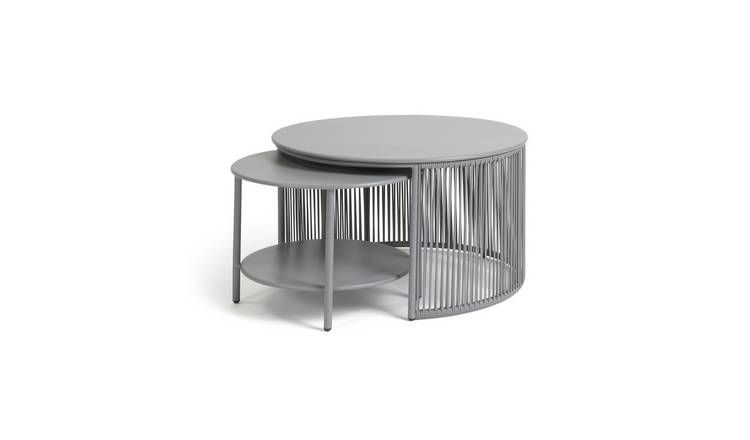 Habitat Ipanema 2 Coffee Tables - Grey
