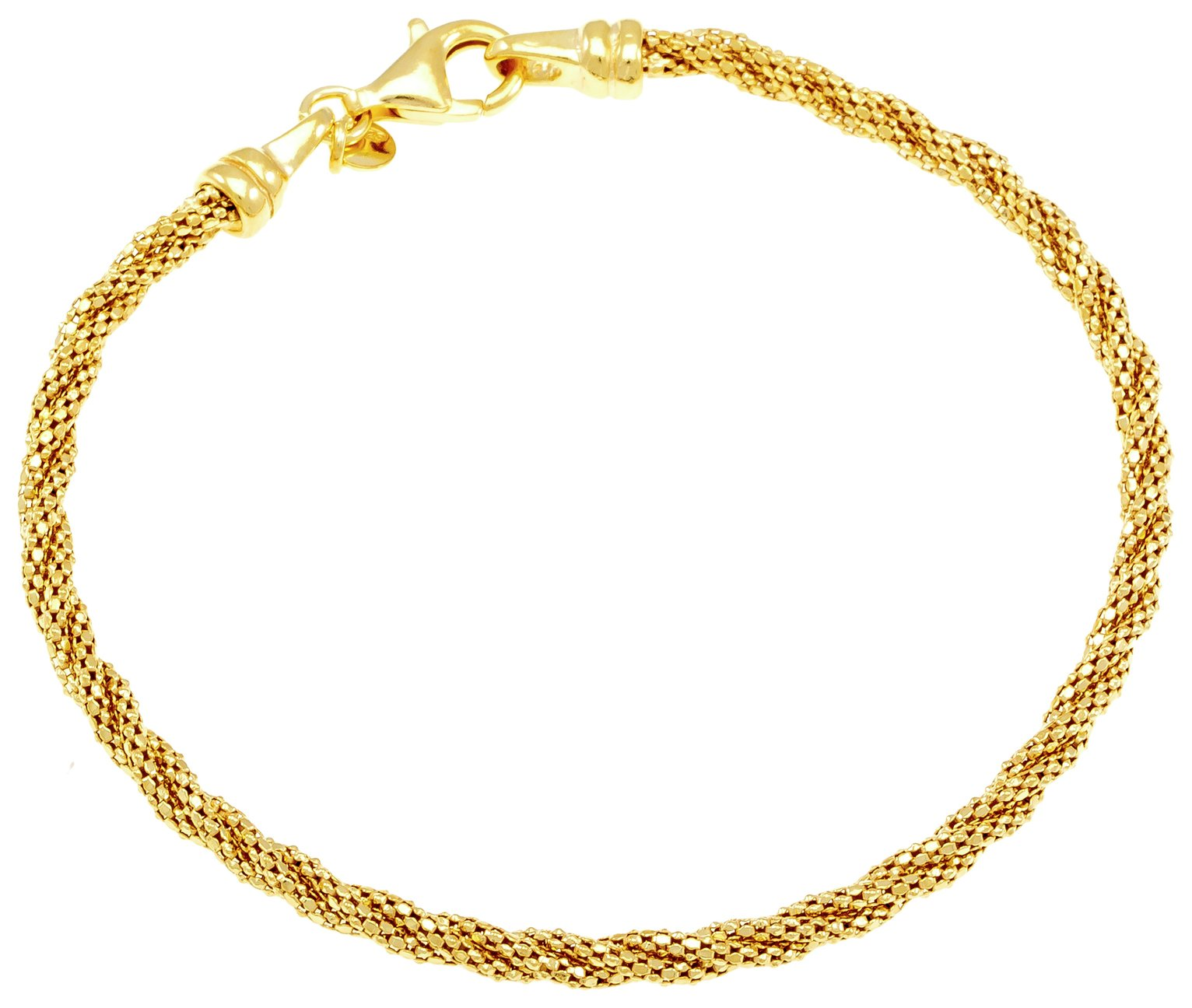 Revere Sterling Silver Gold Plated Twist Bracelet