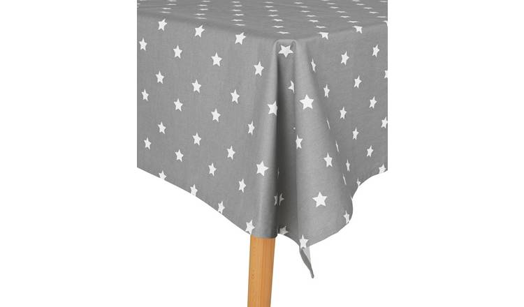 Argos Home Star Wipe Clean Table Cloth - Grey