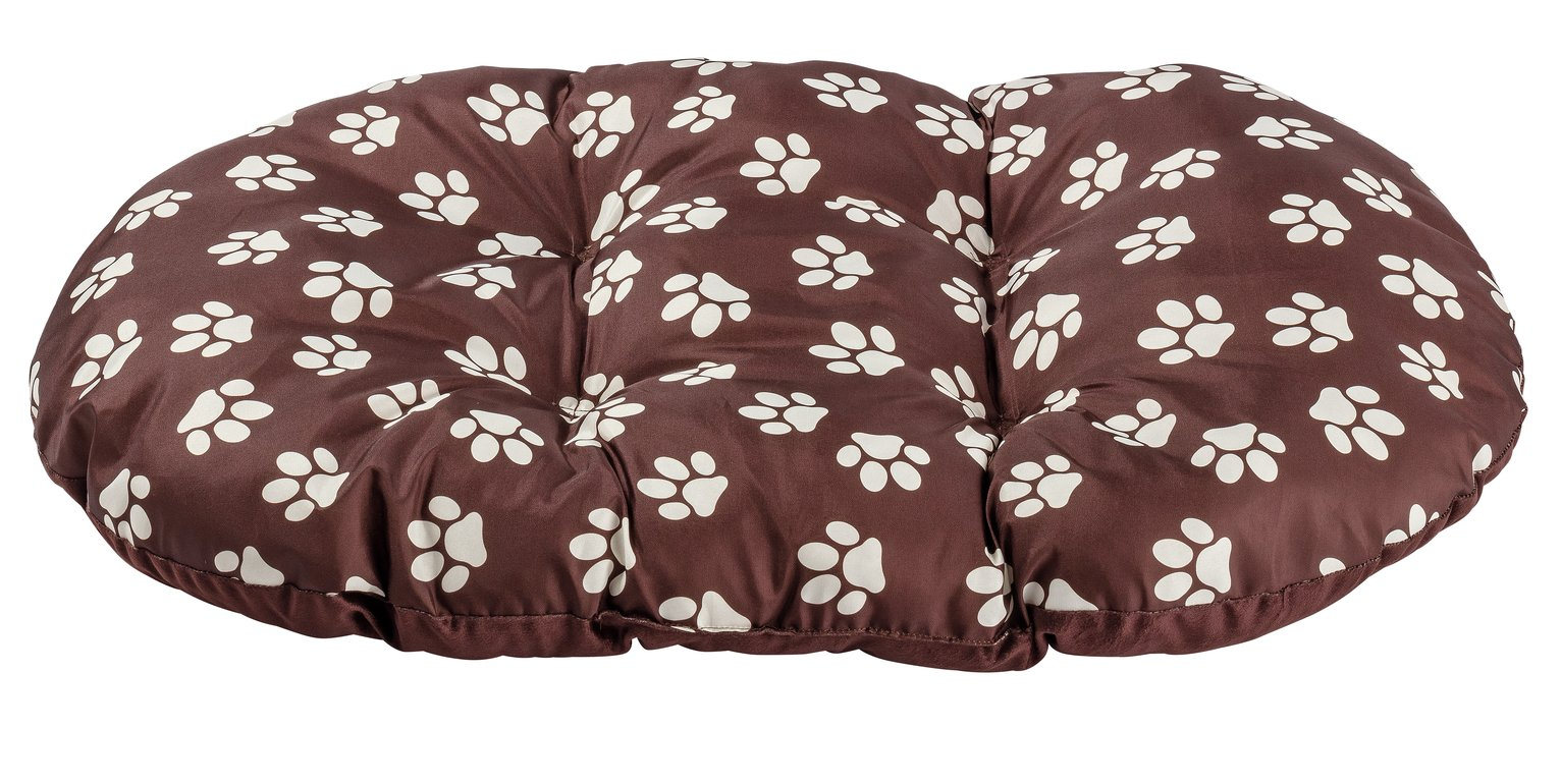 Paw Print Fleece Oval Cushion - Extra Large