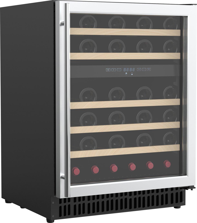 Bush WDZ46 46 Bottle Dual Zone Wine Cooler - S/Steel
