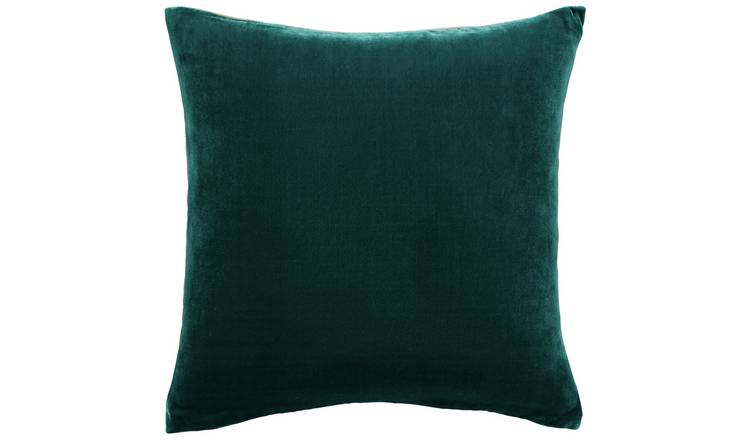 Habitat Regency 45 x 45cm Velvet Cushion - Emerald Green
