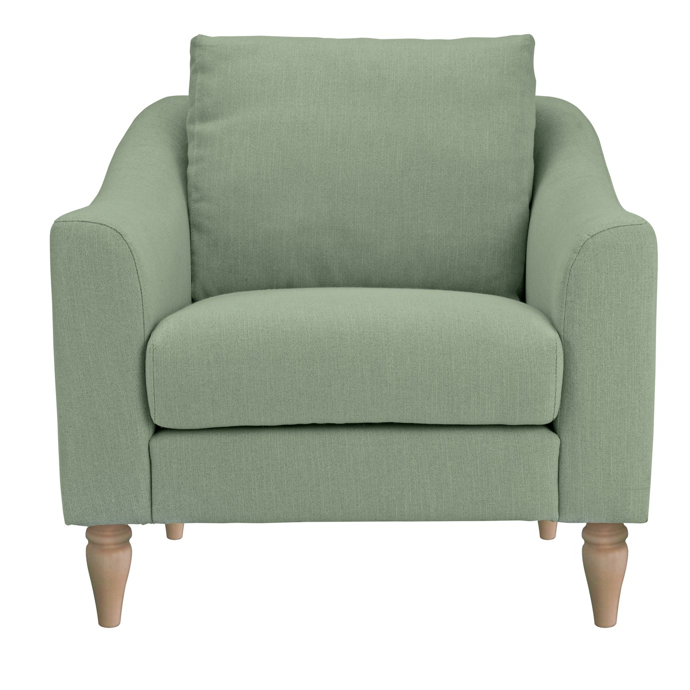 Argos Home Cameron Fabric Cuddle Chair - Sage
