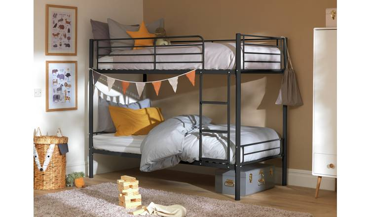 Argos Home Mason Metal Bunk Bed Frame - Black