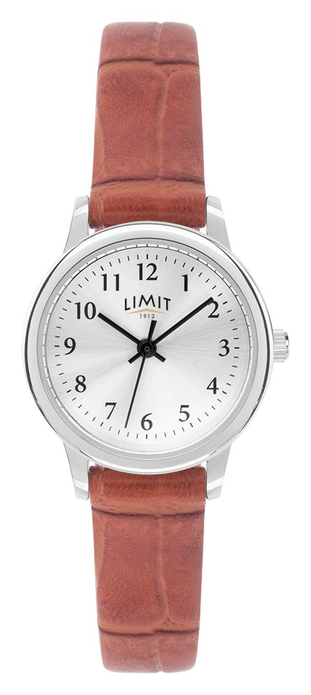 Limit Ladies Tan Faux Leather Strap Watch