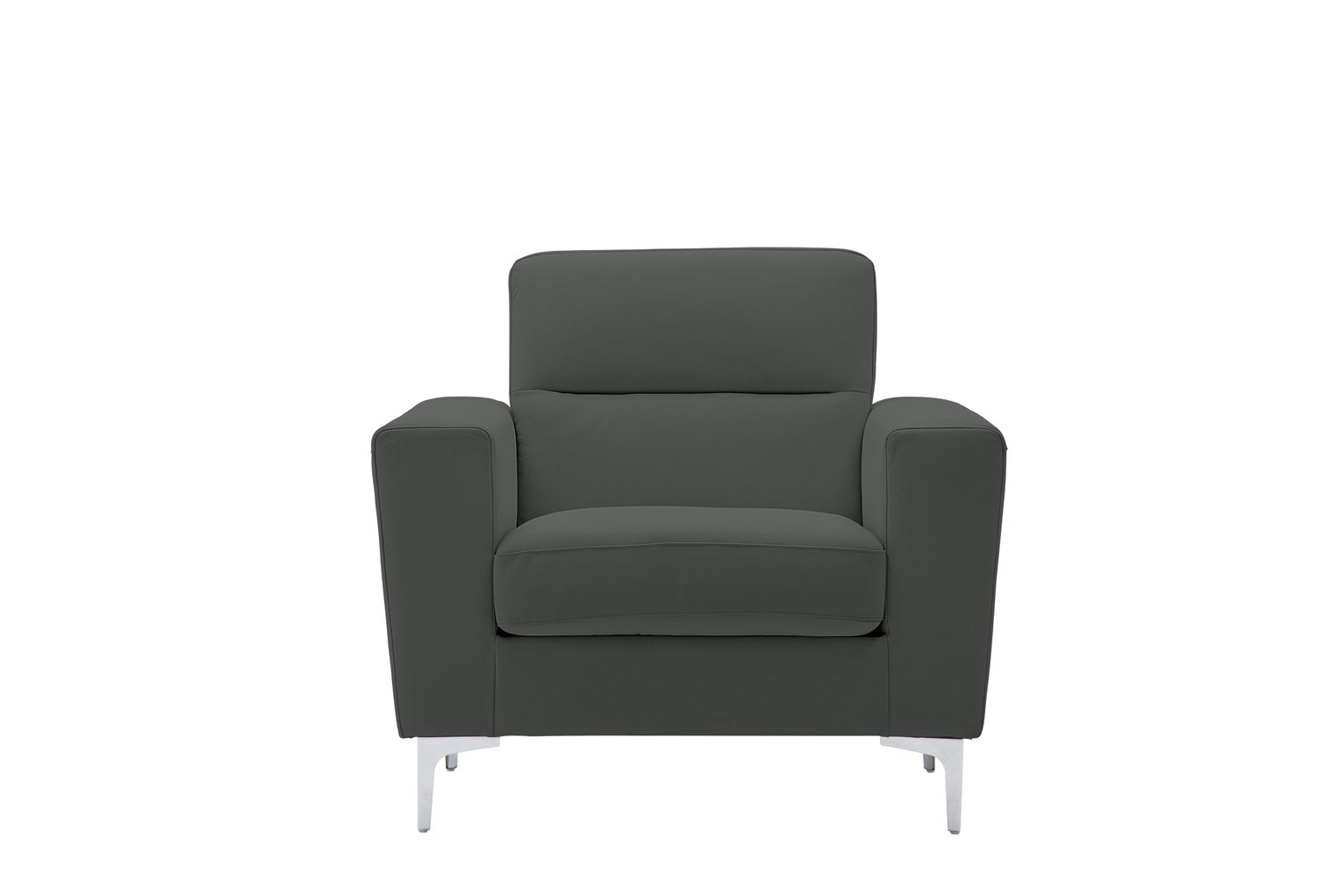 Argos Home Campbell Leather Armchair - Charcoal