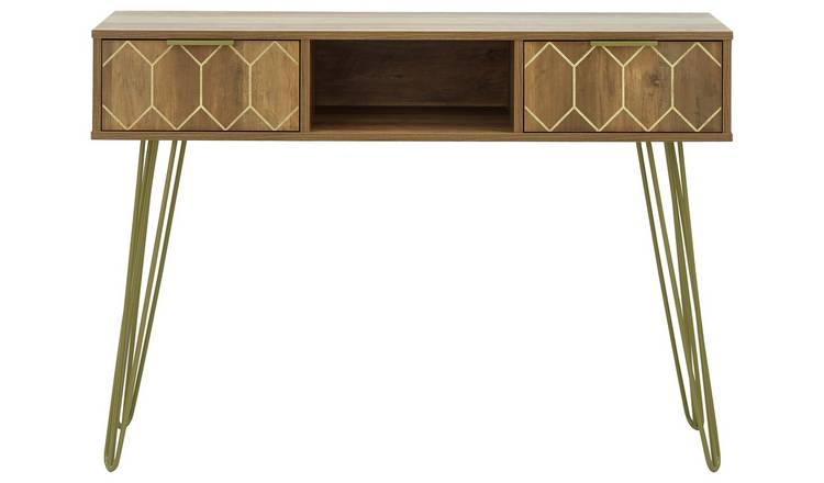 Orleans 2 Drawer Console Table - Mango Wood Effect