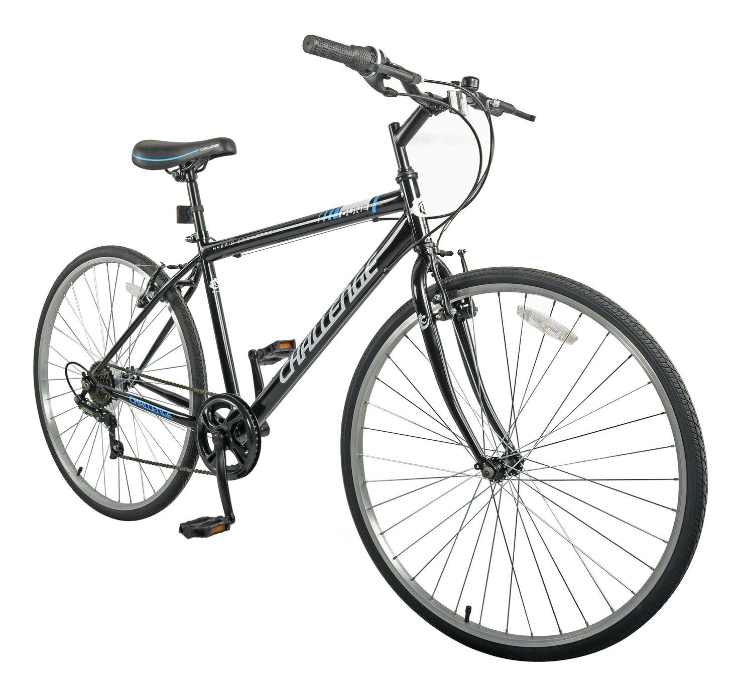 Challenge Dune 27.5inch Wheel Size Hybrid Mens Bike- Black
