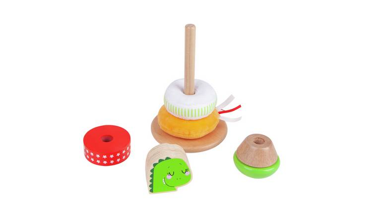 Chad Valley Wooden Ring Stacker - Dinosaur