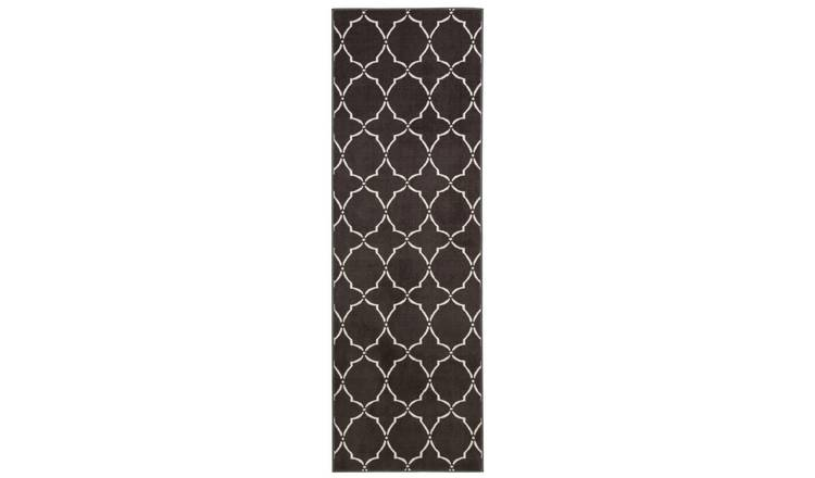 Habitat Statement Trellis Runner - 66x200cm - Grey