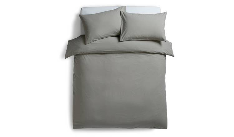 Habitat Washed Grey Stonewashed Bedding Set - Double
