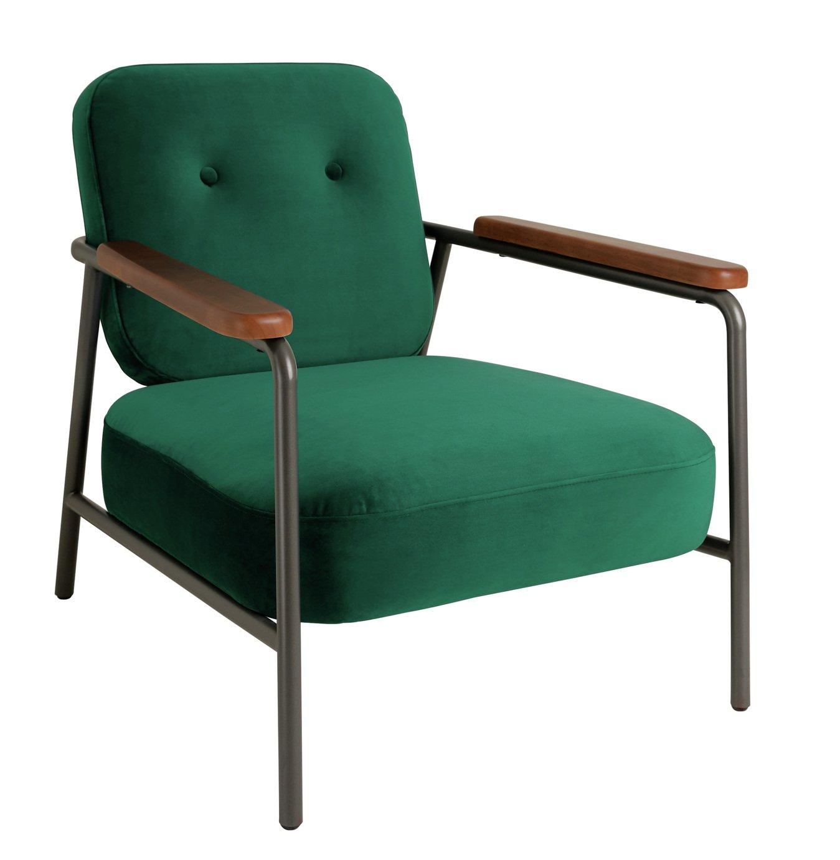 Habitat Cooper Armchair - Emerald Green