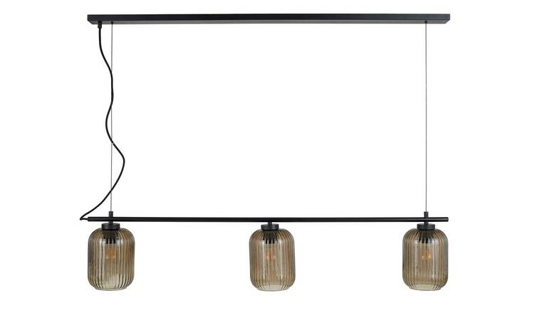 Habitat Hacker Cluster Ceiling Light - Black