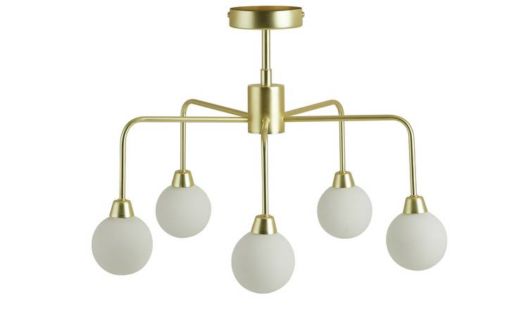 Habitat Boyd Flush Ceiling Light - Brass