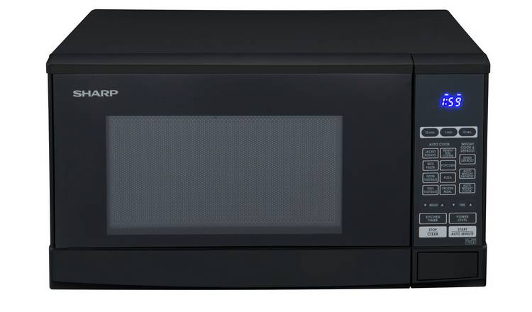 Sharp 800W Standard Touch Microwave R270KM - Black