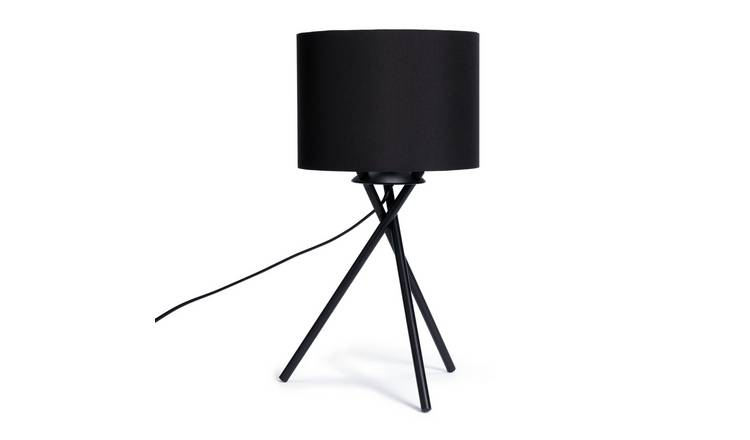 Habitat Matt Tripod Table Lamp - Black