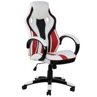 X Rocker Maverick Faux Leather Office Gaming Chair - White