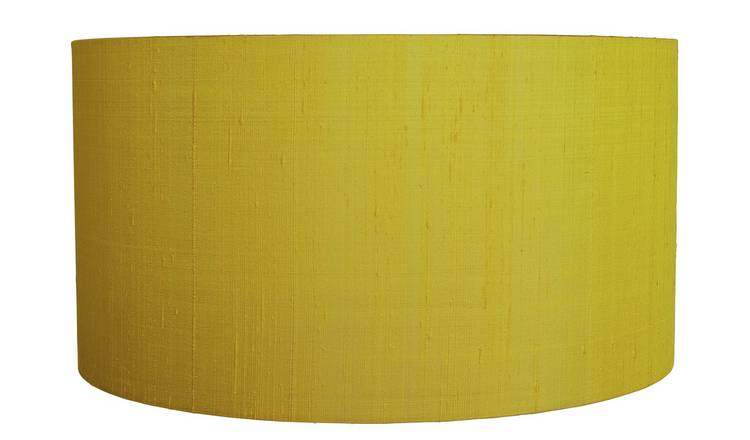 Habitat Drum Silk 49cm Shade - Yellow