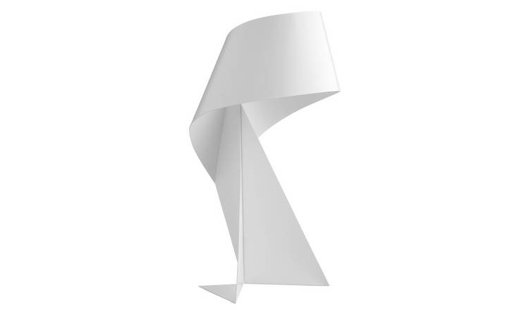 Habitat Ribbon Mini Metal Table Lamp - White