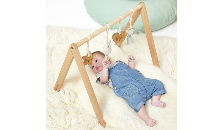 The Little Green Sheep Wooden Baby Play Gym & Charms Set