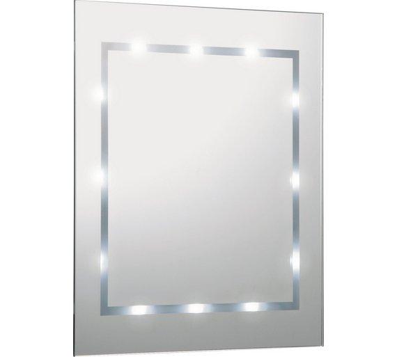 buy argos home illuminated bathroom mirror white gloss mirrors