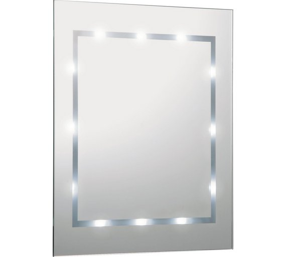 HOME Rectangular Illuminated Bathroom Mirror