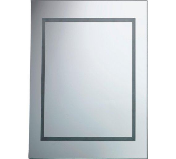 Buy HOME Rectangular Illuminated Bathroom Mirror