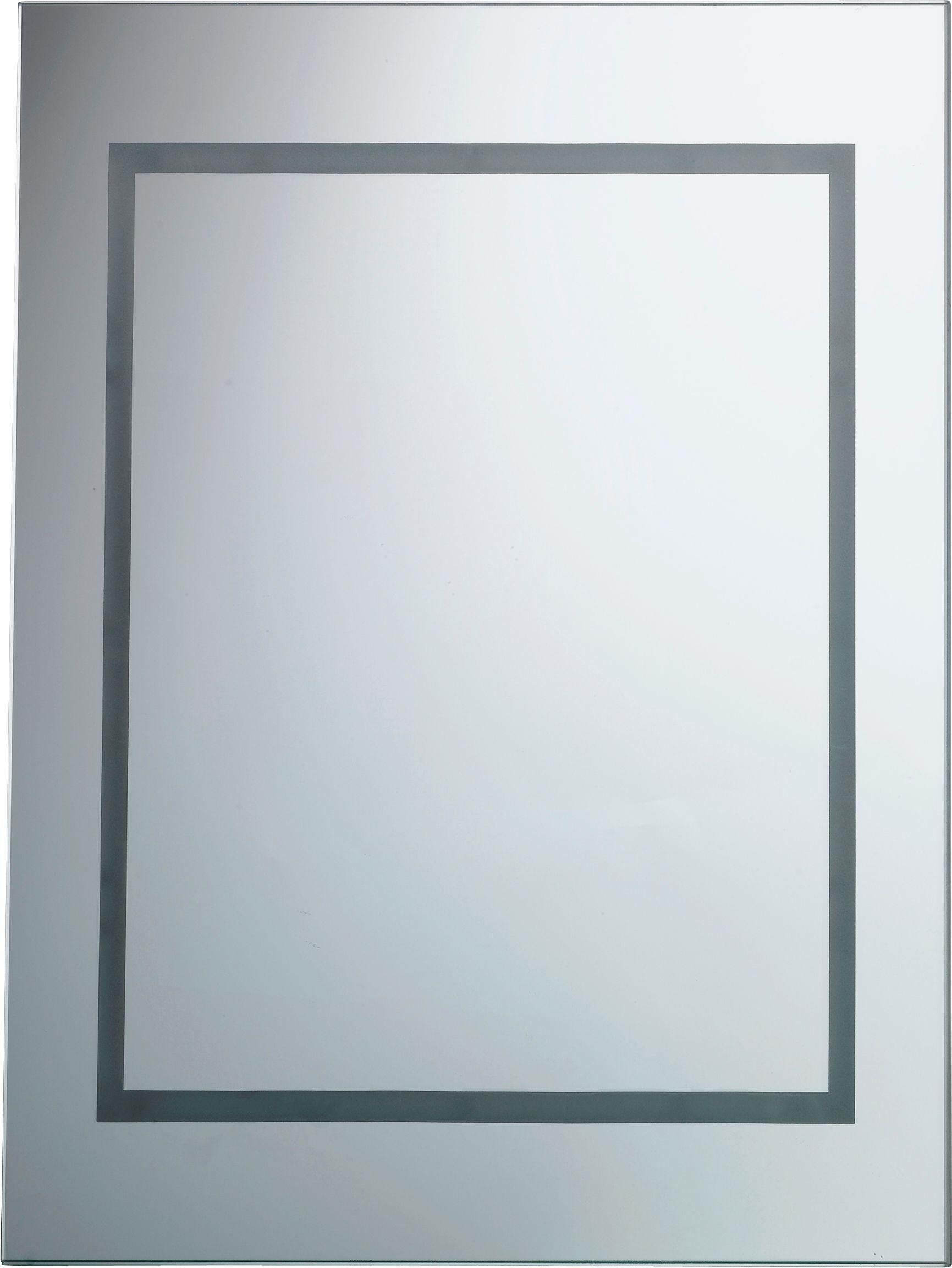 Bathroom Mirror Lights 900 X 600 buy home rectangular illuminated bathroom mirror - white gloss at