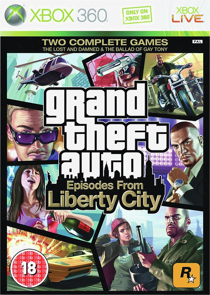 GTA Episodes From Liberty City Xbox 360 Game.
