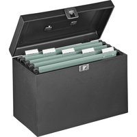 Foolscap Metal Filing Box - Black