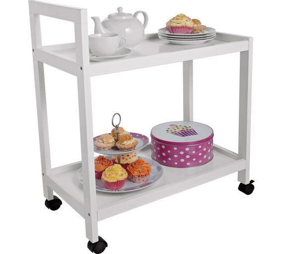 Buy home tea trolley white at your online for Tea trolley ikea