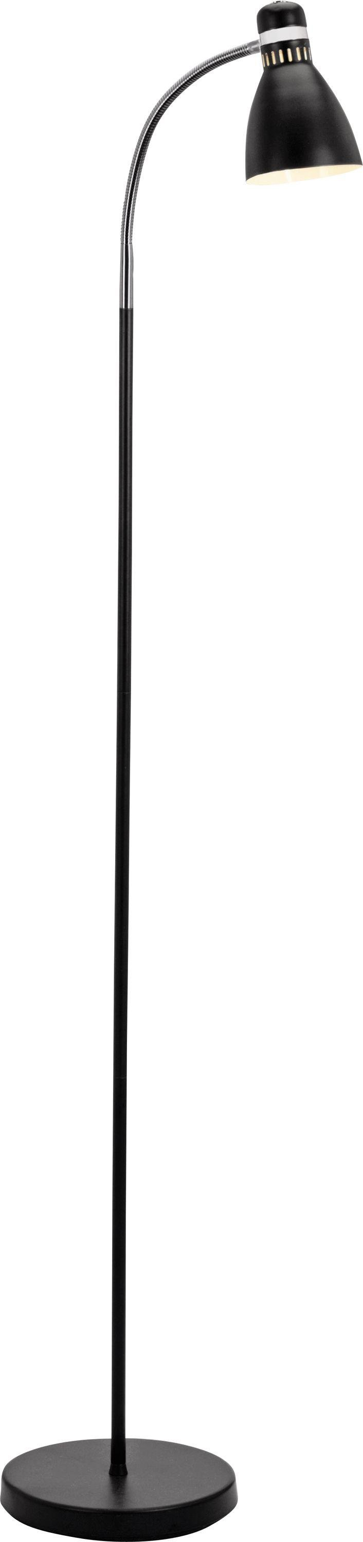 colourmatch dent desk style floor lamp  jet black.