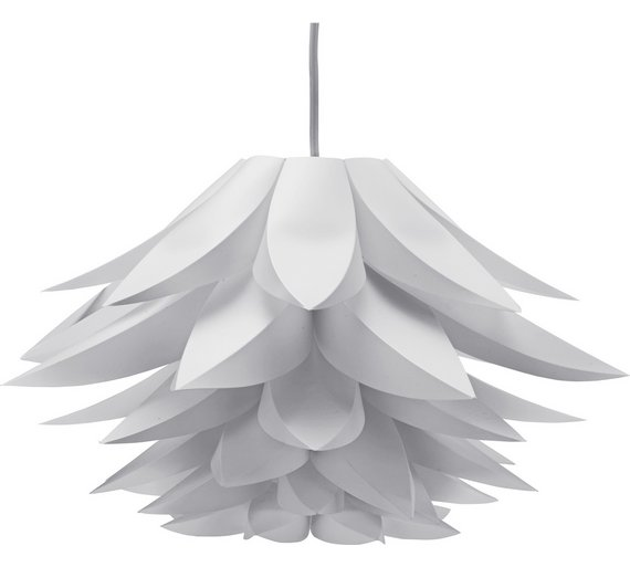 Buy collection lotus shade white at argos your online shop collection lotus shade white aloadofball Gallery