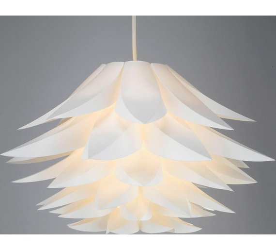 Buy collection lotus shade white lamp shades argos click to zoom aloadofball Image collections