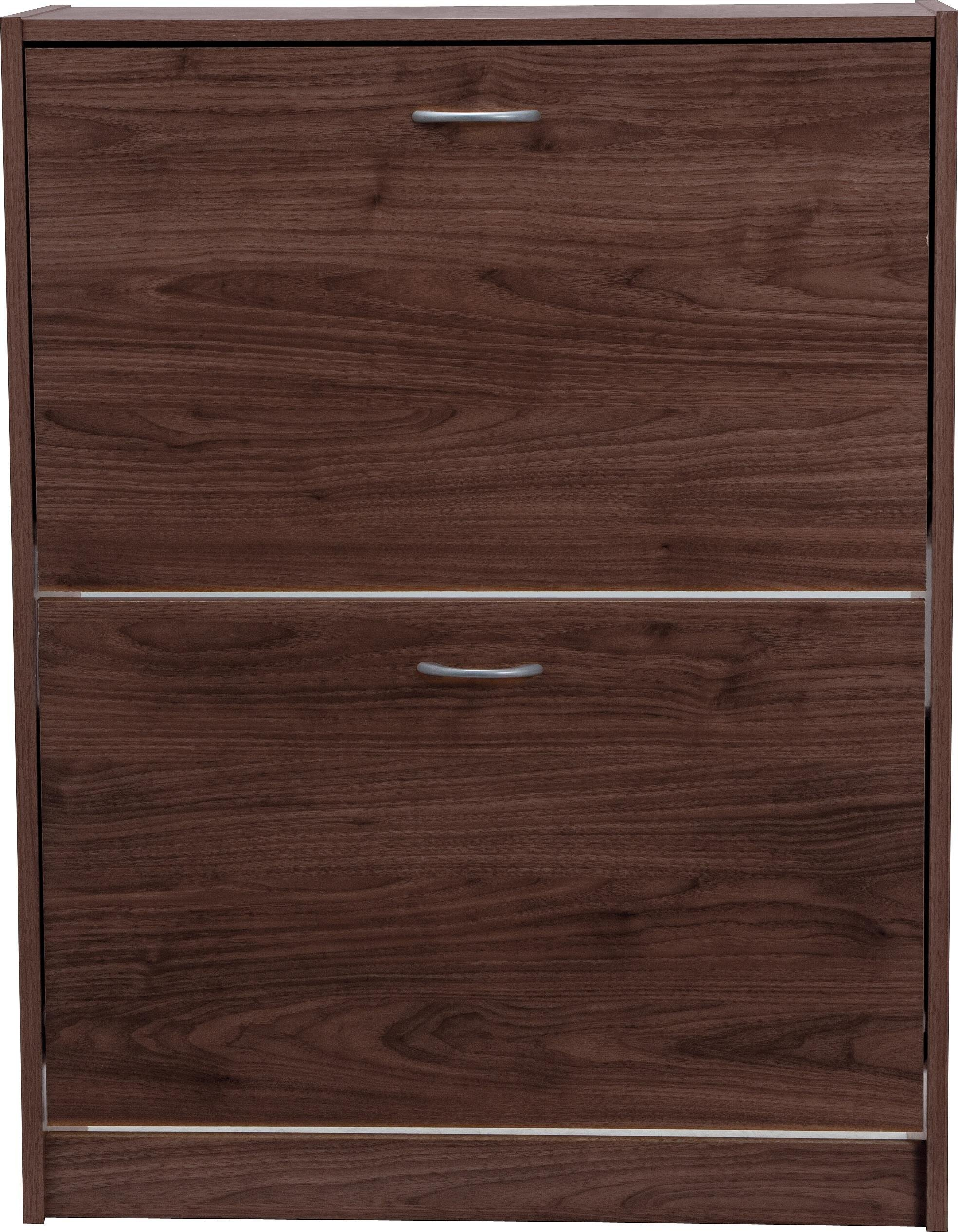 Argos Home Shoe Storage Cabinet - Walnut Effect
