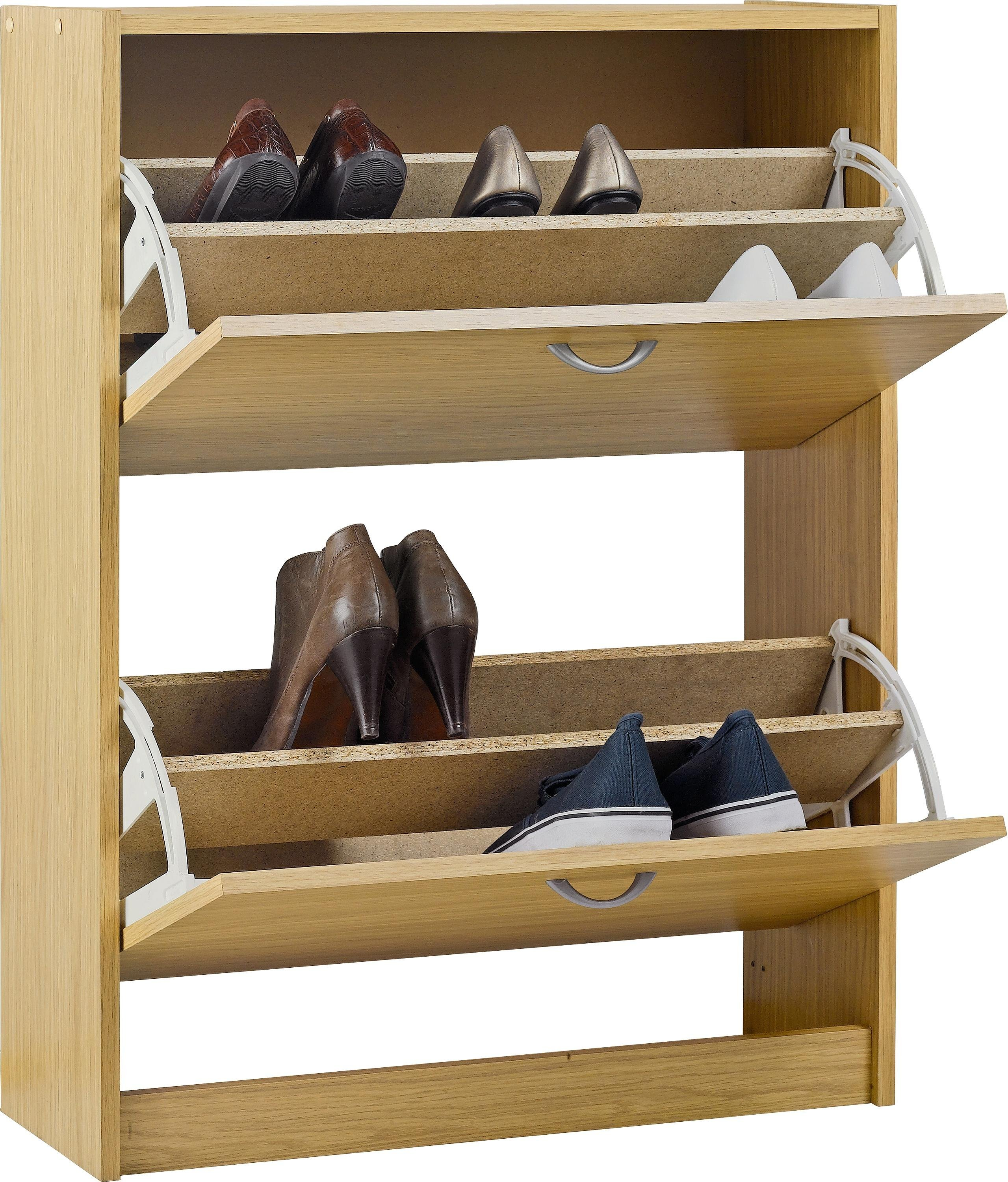 Argos Home Shoe Storage Cabinet - Oak Effect
