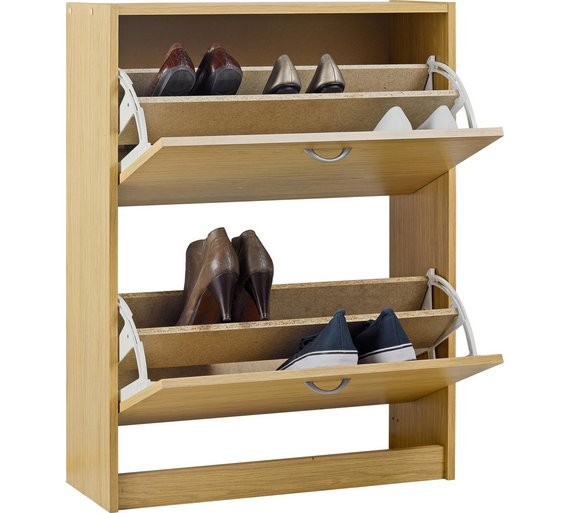Home Shoe Storage Cabinet Oak Effect