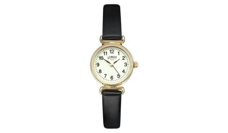 Limit Ladies Gold Plated Polyurethane Strap Watch