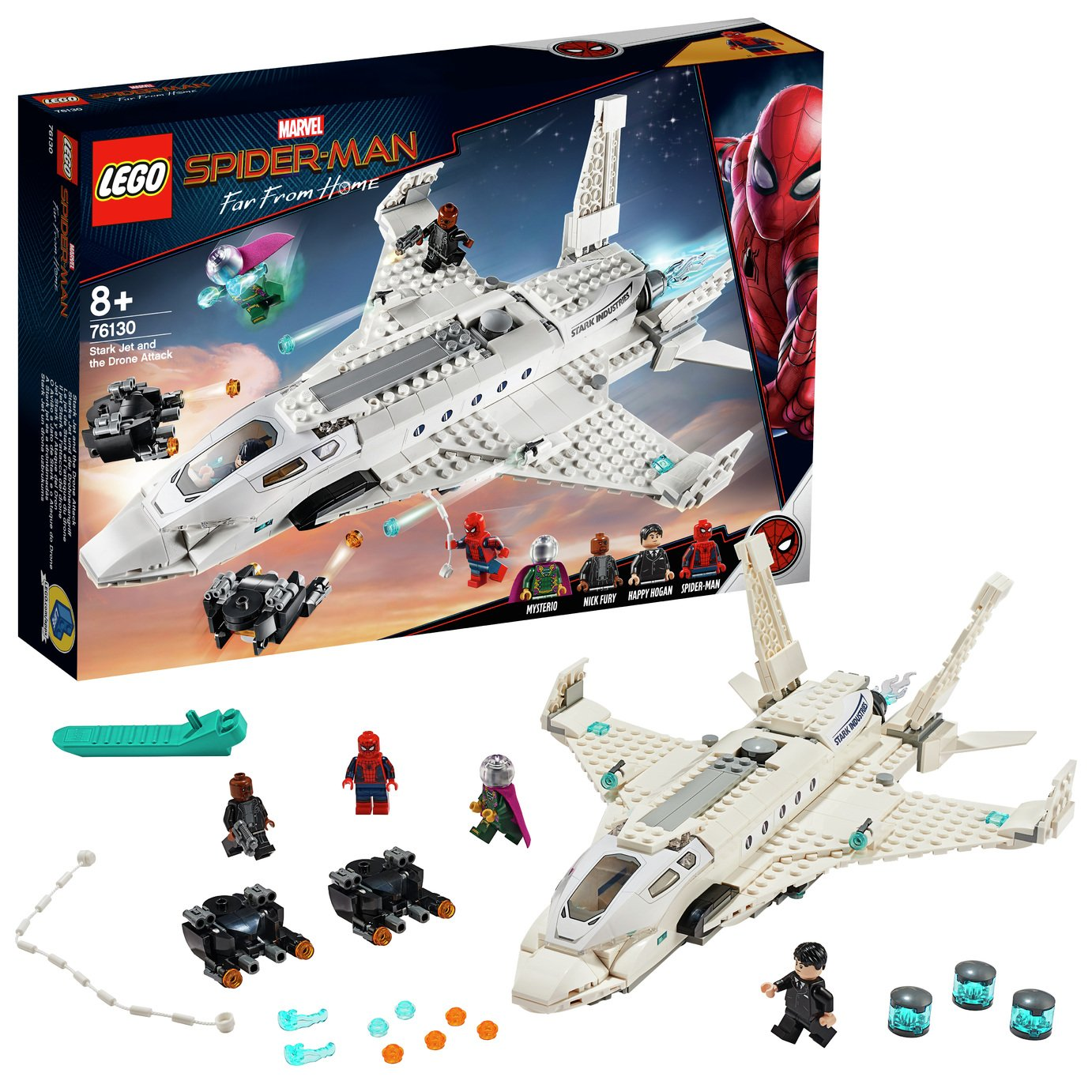 LEGO Marvel  Stark Jet and the Drone Attack Toy - 76130
