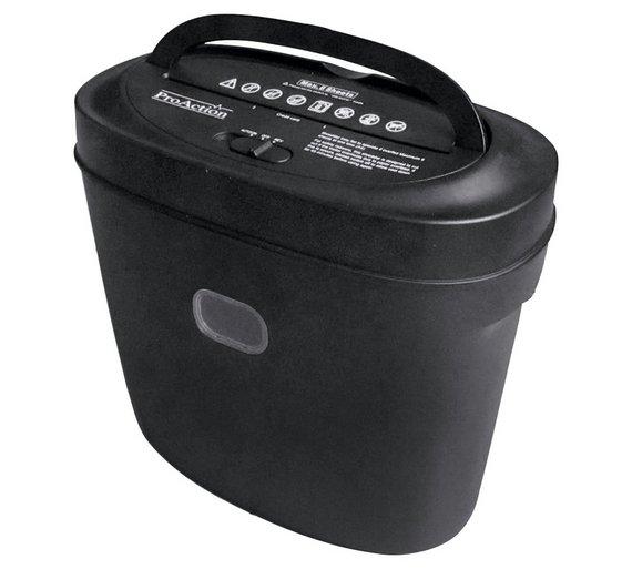 Buy proaction 8 sheet 13 litre cross cut shredder at argos for Best home office shredder uk