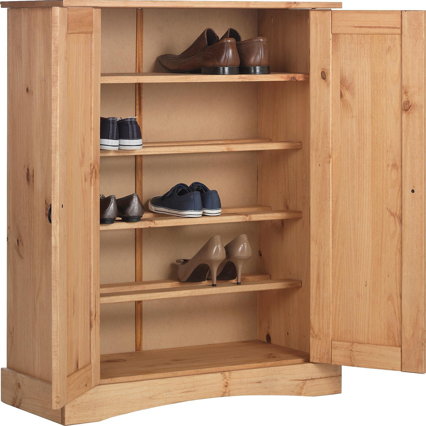Collection Puerto Rico Shoe Storage Cabinet   Antique Pine