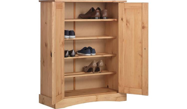 Buy Argos Home Puerto Rico Shoe Storage Cabinet Antique Pine