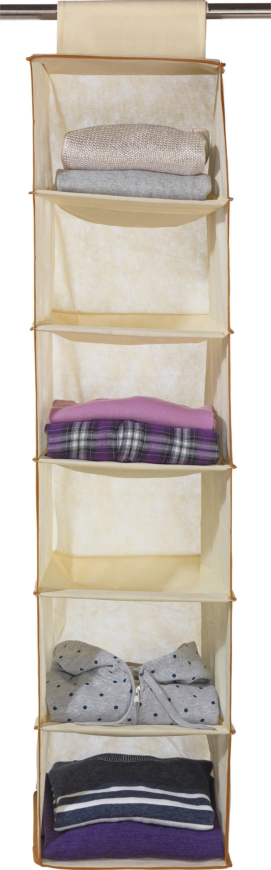 Argos Home 6 Shelf Hanging Storage Unit with Edging - Cream
