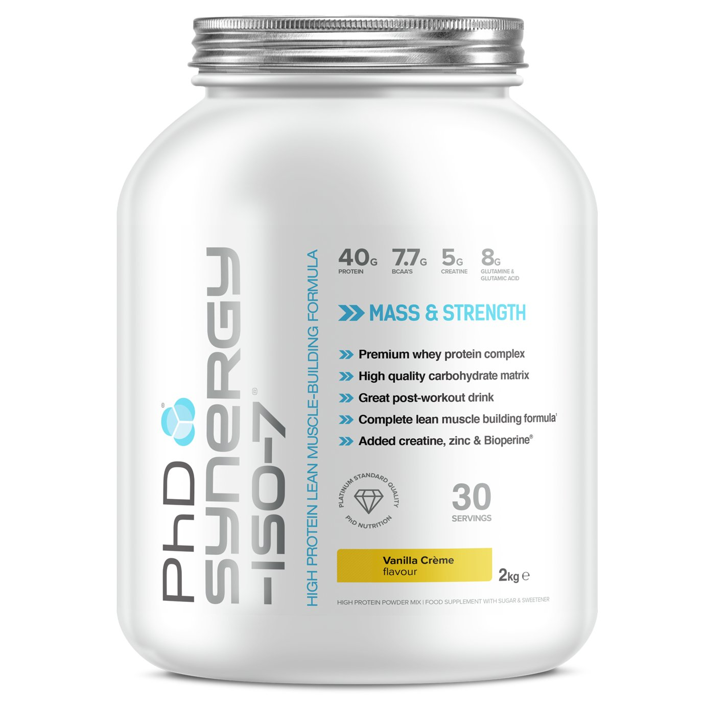 PHD Vanilla Creme Synergy ISO-7 Powder