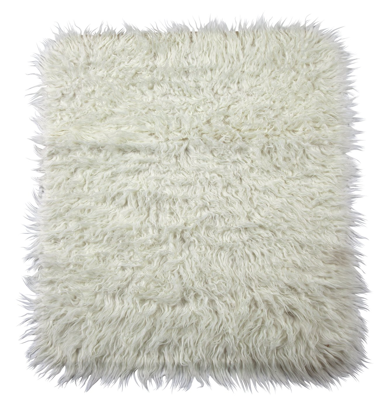 Argos Home Faux Flokati Rug - 75x100cm -  Natural