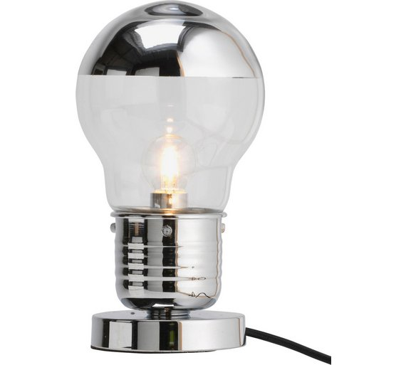 Buy home bulb touch table lamp chrome at argos your home bulb touch table lamp chrome aloadofball Gallery
