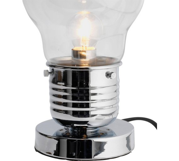 Buy argos home bulb touch table lamp chrome table lamps argos click to zoom aloadofball Images