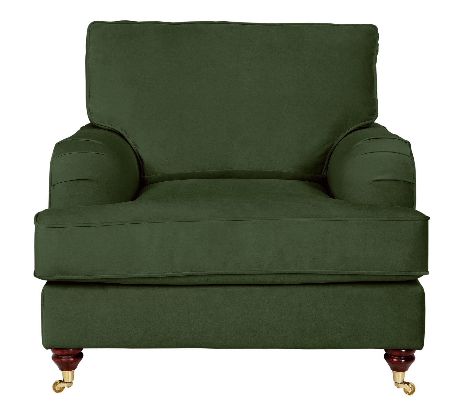 Argos Home Abberton Velvet Armchair - Green