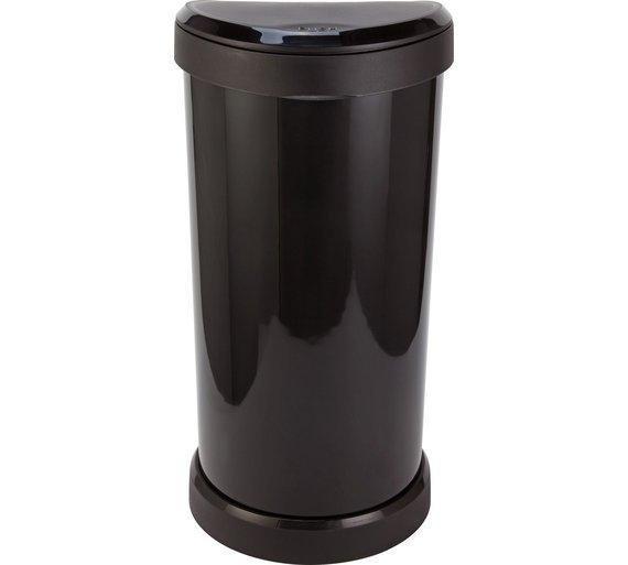 Image of Curver 40 Litre Deco Touch Top Kitchen Bin - Black