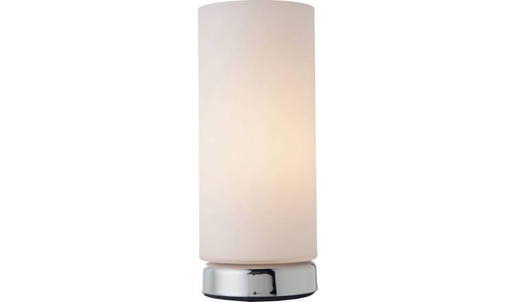 Argos Home Opal Glass Touch Table Lamp - Chrome